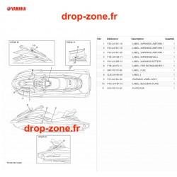 Labels de sécurité FX HO Cruiser 20