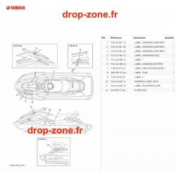 Labels de sécurité FX SVHO Cruiser 20/ FX SVHO 20
