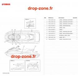 Labels de sécurité GP 1800R SVHO 20