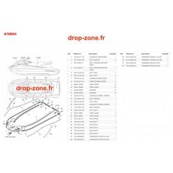 Tapis/ Listons VX Cruiser 1050 Rouge 20