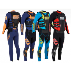 COMBINAISON MATRIX RACE JOHN/JACKET JET PILOT BLEU ORANGE