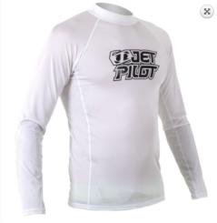 Jetpilot Logo L / S Rashguard Blanc