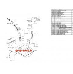 Réservoir carburant Ultra LX 12-20/ Ultra 310-R 14-20/ Ultra 310 LX 14-20/ Ultra 310-X 14-20/ Ultra 300-X/ 300 LX 11-13