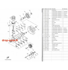 Vilebrequin/ pistons FX SVHO 14-18/ FX SVHO Cruiser 14-18/ FZR-FZS SVHO 14-16/ FX SHO 15/ FX Cruiser SHO 15/ GP 1800 17-18