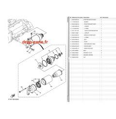 Démarreur FX SVHO-Crui 14-19/HO-Crui 09-19/FZR-S SVHO 14-16/SHO 09-13 VXR/S 11-19/VX Crui HO 16-19/FX SHO-Cr 08-15/GP 1800 17-19