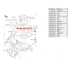 Capot moteur SX-R 800 08-09