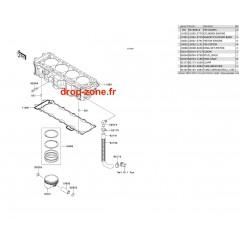 Cylindre/ Pistons Ultra 300-X 12-13/ Ultra 300 LX 12-13
