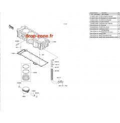 Cylindre/ Pistons Ultra 300-X 11/ Ultra 300 LX 11