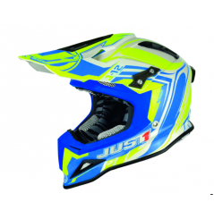 Casque Just1 J12 Flame jaune/bleu