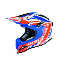 Casque Just1 J12 Flame rouge/bleu