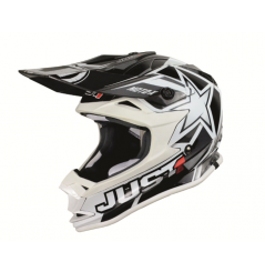 Casque JUST1 J32 Moto X blanc