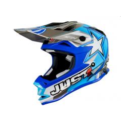 Casque JUST1 J32 Moto X bleu taille junior