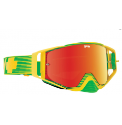 Masque SPY Ace Yellow Flash jaune/vert écran AFC miroir rouge