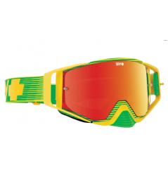 Masque SPY Ace Yellow Flash jaune/vert écran AFC miroir rouge