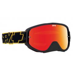 Masque SPY Woot Race Yellow Highlight jaune/noir écran AFC miroir rouge