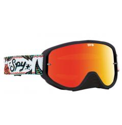 Masque SPY Woot Race Calaveras noir/blanc écran AFC miroir rouge
