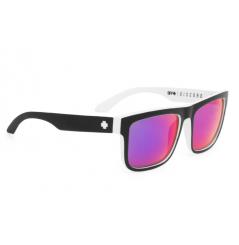 Lunettes de soleil SPY Discord Whitewall noir/blanc verres gris/Spectra™ bleu