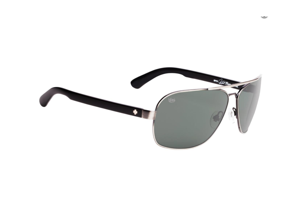 9d1ded79a6dd6 Lunettes de soleil SPY Showtime McGrath argent ancien noir verres Happy  Lens™ gris