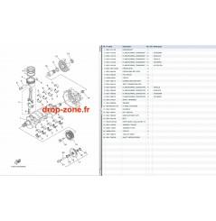 Vilebrequin/ pistons FX SHO 13-14/ FX SHO Cruiser 13-14/ FZR-FZS SHO 13