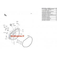 Couvercle moteur SX-R 800 04-11/ X2-R 800 07