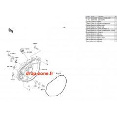 Couvercle moteur SX-R 800 03/ SXI PRO 750 00-02