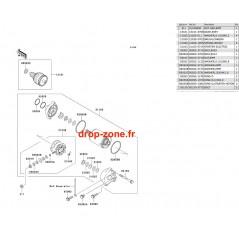Démarreur SX-R 800 03-11/ X2-R 07/ SXI PRO 00-02/ SXI 750/ SX 750/ SX 650/ STX 1100 02/ STX 900 06