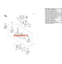 Vilebrequin/ Pistons SXI PRO 750 00-02/ SXI 750 96-97