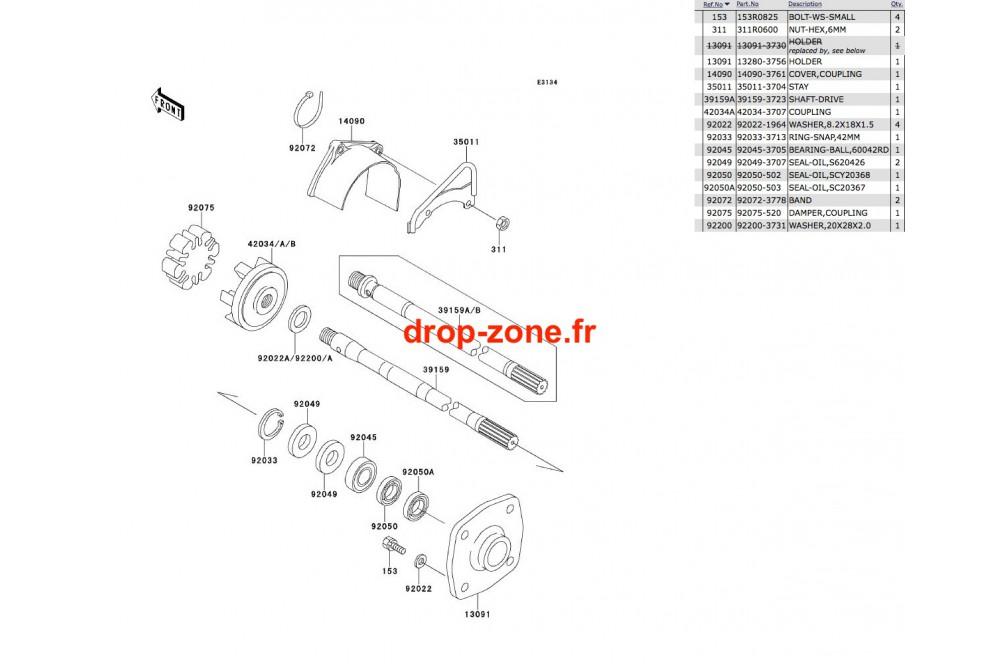 146390 Transmission Sxi 750 on Yamaha Fzr 1000