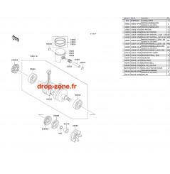 Vilebrequin/ Pistons SX 750
