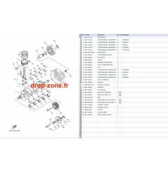 Vilebrequin/ pistons FX SHO 08-12/ FX SHO Cruiser 08-12/ FZR-FZS SHO 09-12
