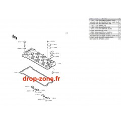 Couvre culasse SX-R 1500 17