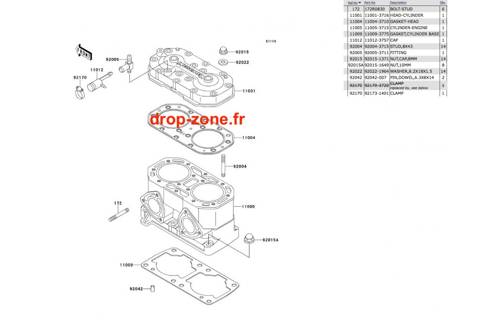 Cylindre/ Culasse SX 650