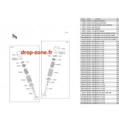 Soupapes STX-15F 06-19 / Ultra LX 08-20/ Ultra 250-X 07-08/ Ultra 260-X 09-10/ SX-R 1500 17-20/ STX 160 20