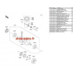 Vilebrequin/ Pistons 650 SX 93