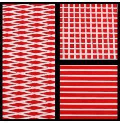 TAPIS HYDROTURF EN ROULEAU RED / WHITE