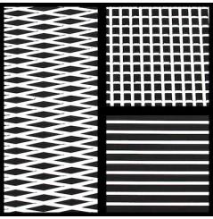 TAPIS HYDROTURF EN ROULEAU BLACK / WHITE