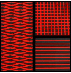 TAPIS HYDROTURF EN ROULEAU BLACK / RED