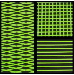 TAPIS HYDROTURF EN ROULEAU BLACK / LIME GREEN