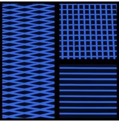 TAPIS HYDROTURF EN ROULEAU BLACK / ROYAL BLUE