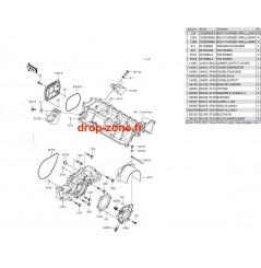 Couvercles moteur STX-15F 13-19/ Ultra LX 13-20/ SX-R 1500 17-20/ STX 160 20
