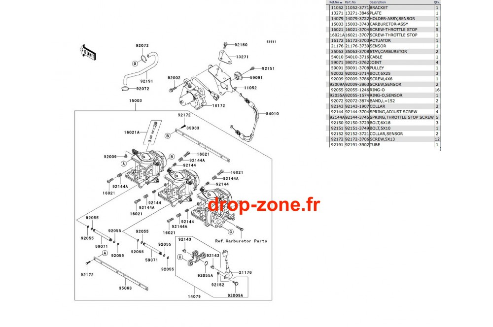 carburateurs stx 900 06  u203a drop zone unlimited
