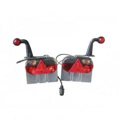Kit feux 7 fonctions + corne pour tube 100x50
