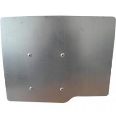 Support plaque minéralogique carré (210*130) T8R avec support pour tube en 80*40