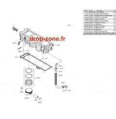 Cylindre/ Pistons Ultra 310-R/ Ultra 310-X/ Ultra 310 LX 17-19
