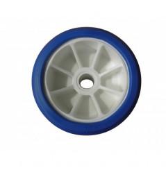 Galet bi-matière blanc/bleu diamètre 120
