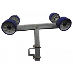 Ensemble balancier double complet pivotant en 100, chandelle en 500 pour tube 100*50