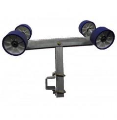 Ensemble balancier double complet pivotant en 100, chandelle en 400 pour tube en 80*40