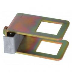 Collier de serrage 40x40 + contre plaque+ vis
