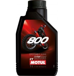 Huile MOTUL 800 2T Factory Line Off Road 100 % Synthèse 1 Litre