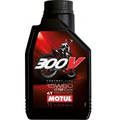 Huile MOTUL 300V 4T Factory Line Off Road 15w60 100 % Synthèse
